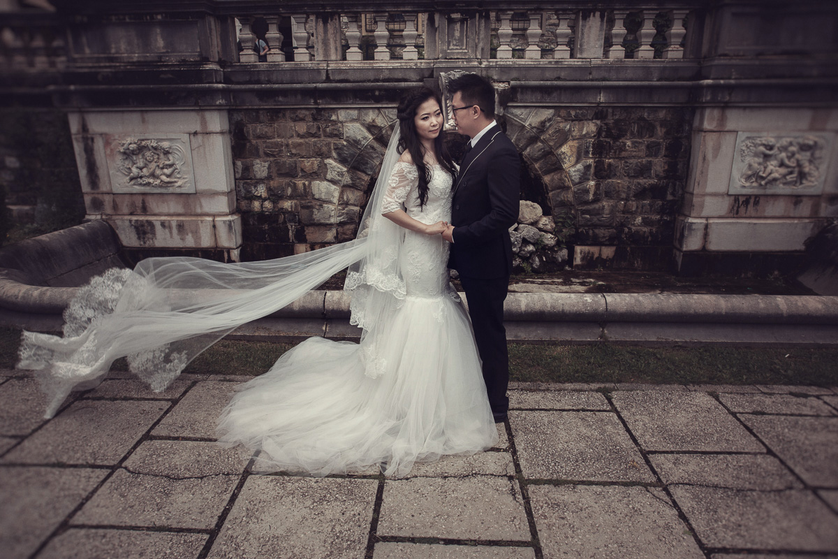 Echo & Wu, sedinta foto nunta ''love the dress''...